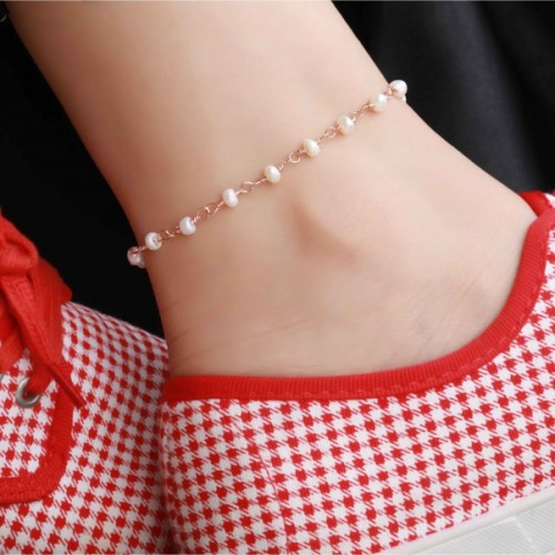 Personalized Anklet in Sterling Silver