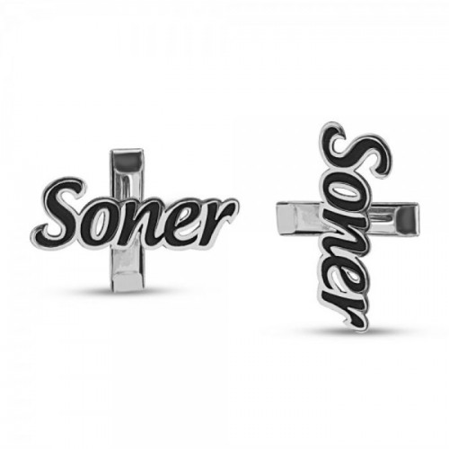 Personalized Cuff Buttons in Sterling Silver