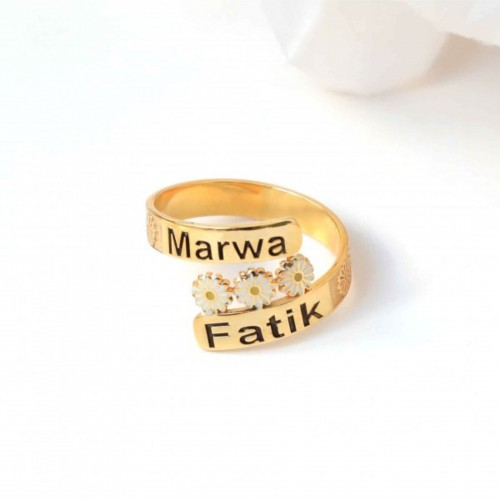 Personalized ring in Sterling Silver #00804