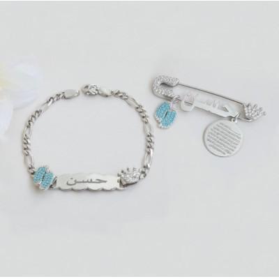 Sterling Silver Brooch and Bracelet