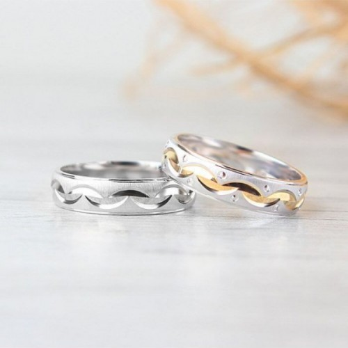 Personilized Couple Rings in Sterling Silver